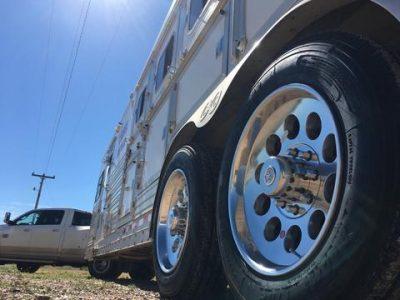 Boar wheels on a Trailer